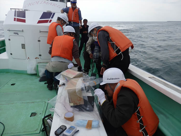 Monitoring in the sea